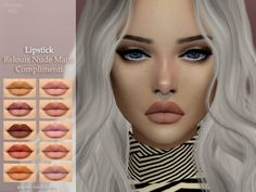 Lipstick Nude Matte by ANGISSI at TSR • Sims 4 Updates