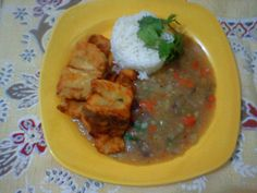 Peixe frito com Pirao de peixe