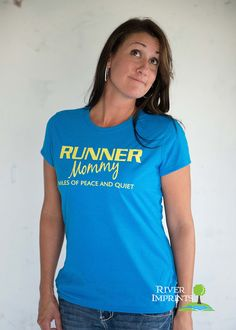 RUNNER MOMMY Tshirt Performance Short Sleeve by RiverImprints