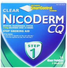 NicoDerm CQ Step 1 Clear Patch, 21mg, 14-Count - http://www.at-health.com/health-personal-care/health-care/smoking-cessation/nicoderm-cq-step-1-clear-patch-21mg-14count-com/ - #SmokingCessation