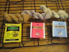 How to Dye Yarn with Tea