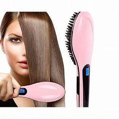 Antistatic Hair Straightener Brush w  Lcd Display 16e003d978