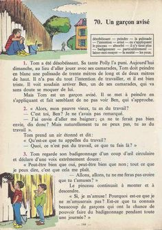 Manuels anciens: Tranchart, Levert, Rognoni, Bien lire et comprendre Cours élémentaire (1963) : grandes images French Learning Books, French Language Learning, Teaching French, English Story Books, Picture Comprehension, French Worksheets, French Grammar, Learn French, Textbook