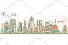 #Abstract #Bangkok #Skyline  by Igor Sorokin on @creativemarket