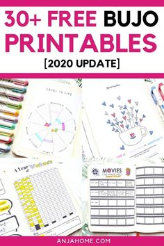 Here you can find the ultimate list of over 30 free bullet journal printables for 2020 Discover the best bujo templates like future log, mood tracker, habit tracker, budget templates and many others Bullet Journal Layout Templates, Bullet Journal Printables, Bullet Journal Ideas Pages, Bullet Journal Inspiration, Bullet Journal Habit Tracker Printable, Future Log Bullet Journal, Bullet Journal How To Start A, Bullet Journal Notebook, Bullet Journals