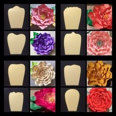 Moldes para Flores gigantes de papel