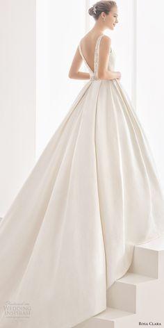 Rosa Clara 2017 (namibia) sleeveless bateau neck v back ball gown wedding dress pockets bv