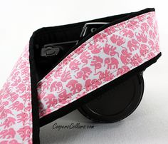 Elephant Camera Strap Your Choice of Gray Aqua by CoopersCollars, $26.00