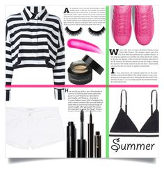 """Marine Layer : Striped Shirts"" by lifeisworthlivingagain ❤ liked on Polyvore featuring Norma Kamali, LoveStories, adidas Originals, J Brand, Bobbi Brown Cosmetics, Tom Ford, Lancôme, Japonesque and stripedshirt"