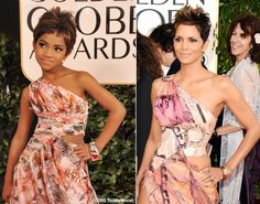 Halle Berry at the Golden Globes - Kids model stars' Golden Globes looks - NY Daily News