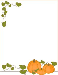A page border for Thanksgiving with a turkey cartoon
