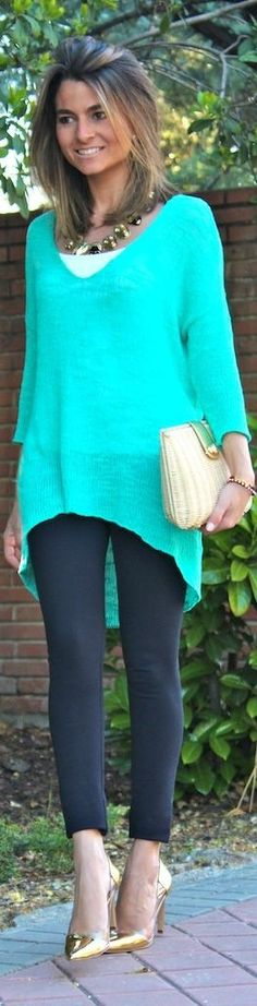To do / mix n match  lightweight sweaters cute heels and leggings