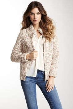 SHAE  Knit Zip-Up Sweater