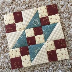 Spirit of America-Block 1 of Buttermilk Basin's Free Sew-a-Long. I'm using scraps from my Kim Diehl stash but BB has a beautiful Spirit of America collection if you're looking for something fresh and new. Thanks, Stacy West, for this fun project. Sampler Quilts, Scrappy Quilts, Easy Quilts, Mini Quilts, Patchwork Quilting, Quilting Projects, Quilting Designs, Sewing Projects, Quilting Ideas