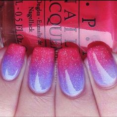 Ombre nail art – ombre is another design that's not only popular with clothes but with other thngs as well such as hair and nails. Ombre nails are easy to do and they're a perfect pop of color that you can add to a simple, neutral outfit. 9 Beautiful Nail Art Ideas - Glam Bistro