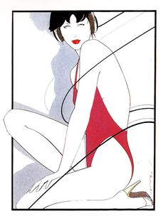 Untitled Acrylic on Board Patrick Nagel Patrick Nagel, Graphic Design Illustration, Illustration Art, Pop Art, Nagel Art, Arte Pop, Pin Up Art, Erotic Art, Artist Art