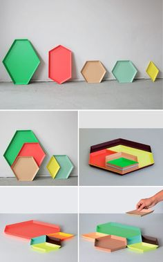 We love these, the playfulness, how practical they are, the colors that make you smile. Kaleido trays — HAY