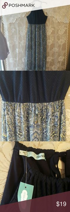 """NWT Maurices Maxi Dress size L Large Flowy Blue and Green , length 58"""" Maurices Dresses Maxi"""