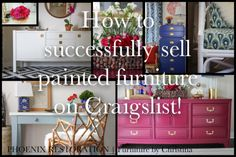 How to Successfully Sell Painted Furniture on Craigslist {by: Phoenix Restoration} #seattle #phoenixrestoration #ontheblog #craigslist #furnituremakeover #diy