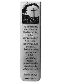 Záložka - Matúš 28:5-7