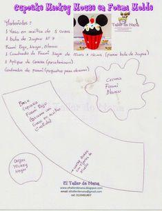 Lata do Mickey e Minie em eva com molde Fiesta Mickey Mouse, Mickey Minnie Mouse, Clown Party, Felt Crafts Patterns, Fuzzy Felt, Mickey Birthday, Felt Food, Disney Diy, Busy Book