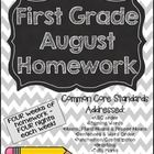 It's that time again. This packet includes 4 days of homework for each of the 4 weeks of August. The packet is broken down Monday . First Grade Homework, School Stuff, Back To School, Beginning Of Year, Letter To Parents, Grade 1, Teaching Ideas, Core, Classroom