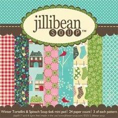 Jillibean-Soup Winter Scrapbook Paper #scrapbook #scrapbooking #paper #crafts #winter #christmas