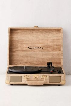 Crosley UO Exclusive Wood Cruiser Bluetooth Record Player is part of Bluetooth record player Shop Crosley UO Exclusive Wood Cruiser Bluetooth Record Player at Urban Outfitters today Discover more s - Crosley Record Player, Bluetooth Record Player, Record Players, Vintage Vinyl Record Player, Stereo Speakers, Suitcase Record Player, Victrola Record Player, Portable Record Player, Gadgets