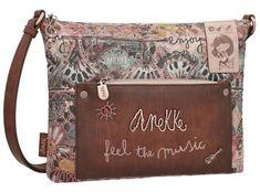 Crossbody Bag Ixchel Music rosa bestickt Anekke bunt Satchel, Crossbody Bag, Shopper, Messenger Bag, Parfait, Music, Unique, Bags, Collection