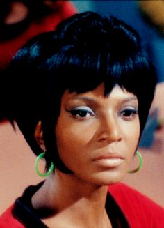 Nichelle Nicols. First black woman cast as a main character on US tv who was not a servant.