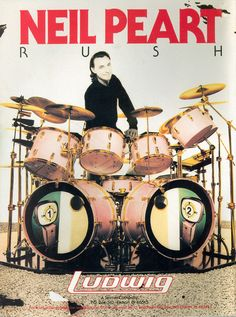 Neil Peart is best known as the drummer for the band RUSH. He is best know for his technical ability as well as his stamina.