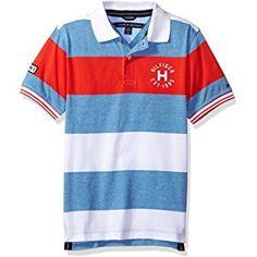 9d8809c7d5 Amazon.com  Tommy Hilfiger Boys  Short Sleeve Matt Polo Shirt  Clothing