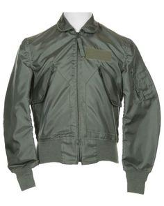 Green Zip-Up Bomber Jacket - L