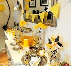 Chá de Panela Amarelo e Preto