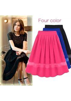 Beautiful Black Pleated Chiffon Organza Skirt