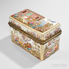 Meissen Capo di Monte-style Porcelain Box | Sale Number 2835B, Lot Number 90 | Skinner Auctioneers