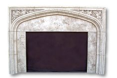 English Tudor II Fireplaces - Cast Stone Gothic Mantels
