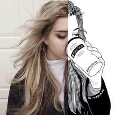 surprenant, art, peintres, d'art, joliment, beauté, noir et blanc, blond, dessiné, dessin, rédiger, sourcils, yeux, fille, filles, de jeune fille, grunge, cheveux, lady, amour, maquillage, parfaitement, perfection, Tumblr
