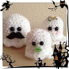 Crochet family of Ghostie's amigurumi. by MyLittleBeastie on Etsy