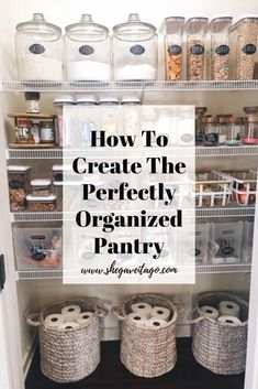 A step by step guide on how to organize your pantry | Tidying up your pantry! #pantry #organize #organization #tidyingup #pantryorganization #DIY