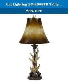 Cal Lighting BO-2068TB Table Lamp with Brown Shades, Bone Finish. Cal Lighting Has An Exceptional Line Of Quality Products Aimed To Please Even The Most Discerning Of Consumers. Relish In The Design Of This 1 Light Table Lamp; From The Details In The Brown, To The Double Coated Bone Finish, This Table Lamp Is Not Only Durable, But A Tastefully Elegant Showpiece.