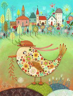 The Pretty Duckling - Giclee Print - Whimsical Art - Children's Art - Decorative - Pretty Thing 1, Guache, Whimsical Art, Fine Art Paper, Giclee Print, Art For Kids, Original Artwork, Kids Rugs, Colours