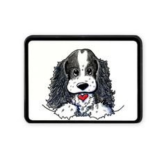 This sweet Parti Cocker Spaniel Hitch Cover by KiniArt™ is available at Cafepress.