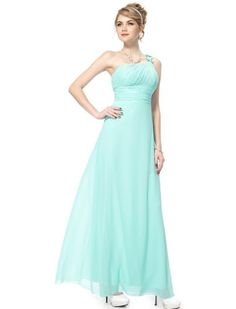 cool HE09596BL10, Blue, 8US, Ever Pretty Chiffon Prom Dresses 2014 Long 09596 -One shoulder ruffles evening party dress Detailed Size Info Please Check Left Image, Not Size Info Link. It is US Size when you place order Chiffon, side zipper, dry clean -http://weddingdressesusa.com/product/he09596bl10-blue-8us-ever-pretty-chiffon-prom-dresses-2014-long-09596/