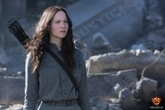 Jennifer Lawrence stars as 'Katniss Everdeen'. #Mockingjay