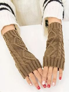Womens Mink Cashmere Knitted Female Gloves 40cm 50cm 60cm Long Arm Mittens Glove