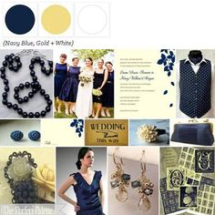 Navy Blue, Gold + White via The Perfect Palette xo
