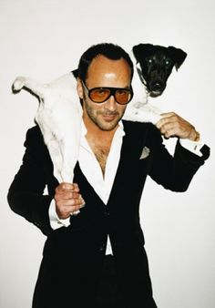 Tom Ford & his Fox Terrier