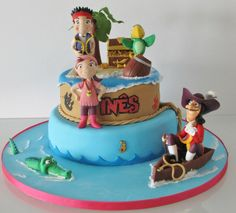 Jake and the neverland pirates - by milcoresmilsabores @ CakesDecor.com - cake decorating website