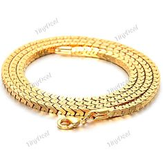Stylish Gold Plating Wheatear Style Necklace Neck Chain Clavicle Chain Jewelry for Men NAF-254204